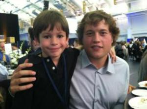 Matthew Stafford with Will