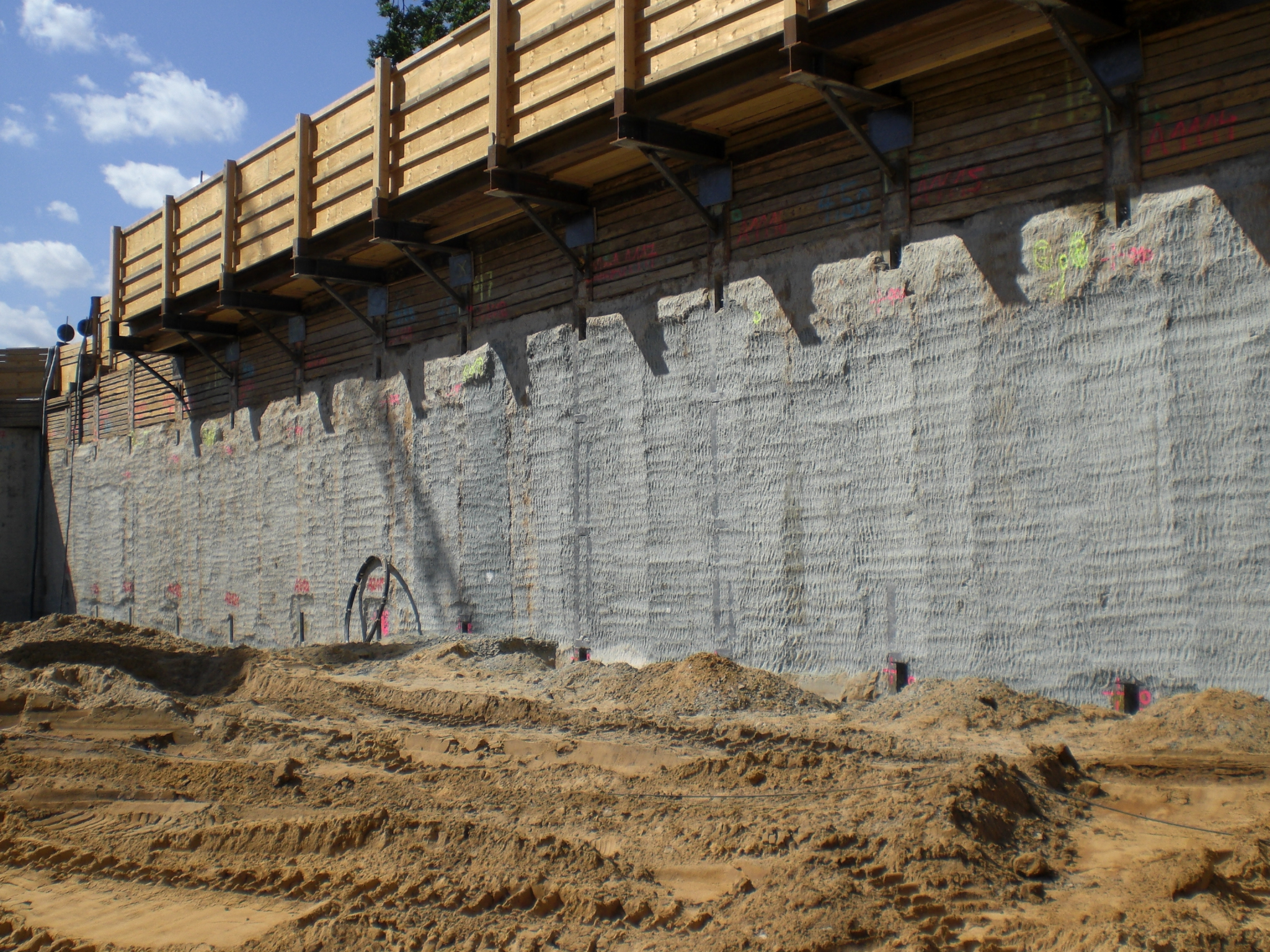 Trimming Caisson Walls With Alpine Rockwheel Concrete