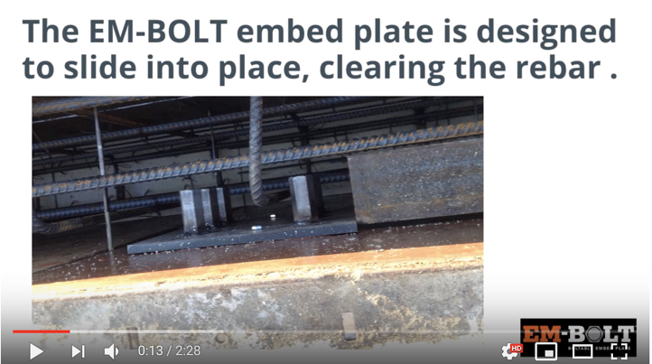 EM-BOLT Boltable Steel Embed Plate Installation for Structural Steel Foundations