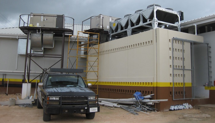 condenser unit in a refrigeration system