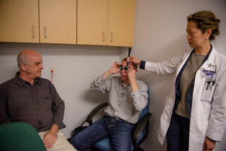 Jacob with Dr. Valerie Quan and Dr. Chris Chase
