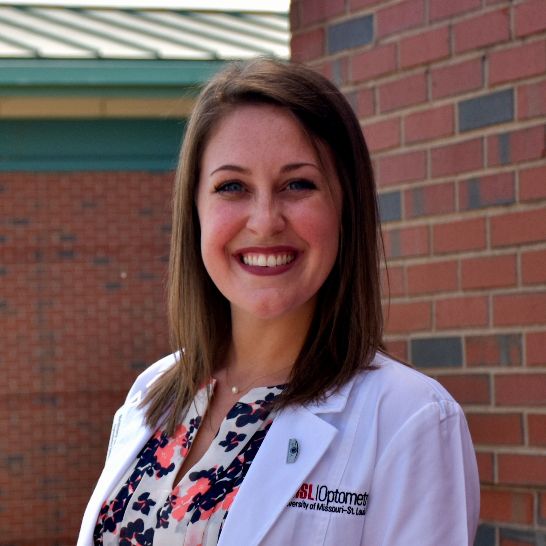 Brittney Schieber, a third-year student at the University of Missouri-St. Louis College of Optometry.