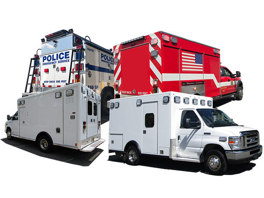 First Priority Emergency Vehicles Variety of Vehicles