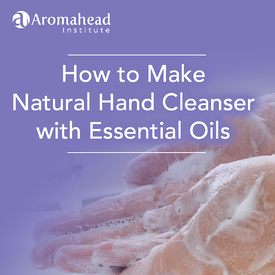 Natural Hand Cleansing Gel with Essential Oils for Caretakers