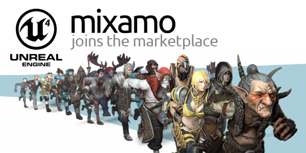 Get Mixamo's New Free Motion Pack in the Unreal Engine 4