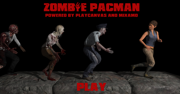 Play the free Zombie Pacman game from Playcanvas