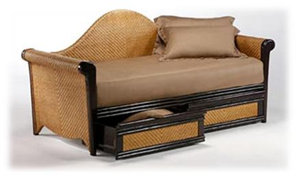 And futons give excellent seating and sleeping space. wicker daybed with  drawers
