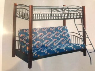 Oak & Iron Futon Bunk