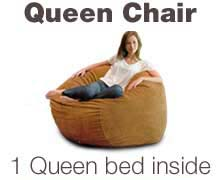 Queen Bean Bag Bed
