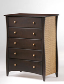 Rattan 5 Drawer Chest