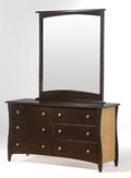 Rattan 6 Drawer Dresser with Optional Mirror