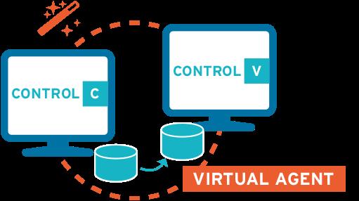 Virtueller Agent: automatisierte Datenerfassung