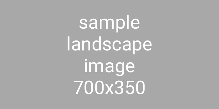 Sample Landscape Image