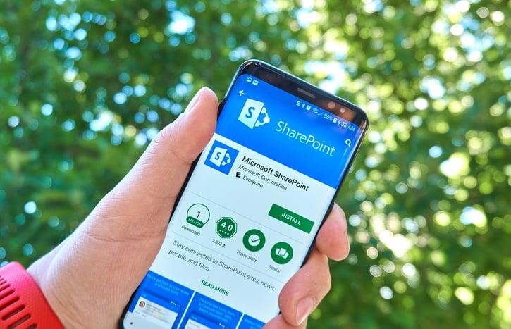 sharepoint app on smart phone
