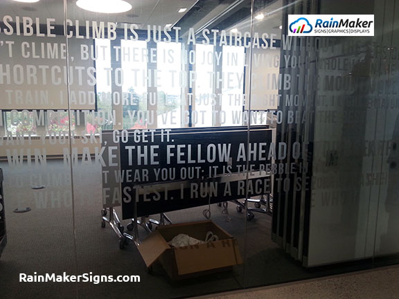 Frosted Glass Film Windows By Rainmaker Signs Seattle
