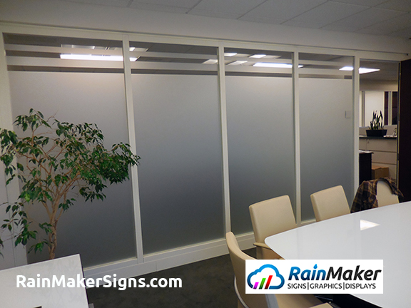 Frosted Etched Glass Window Graphics By Rainmaker Signs