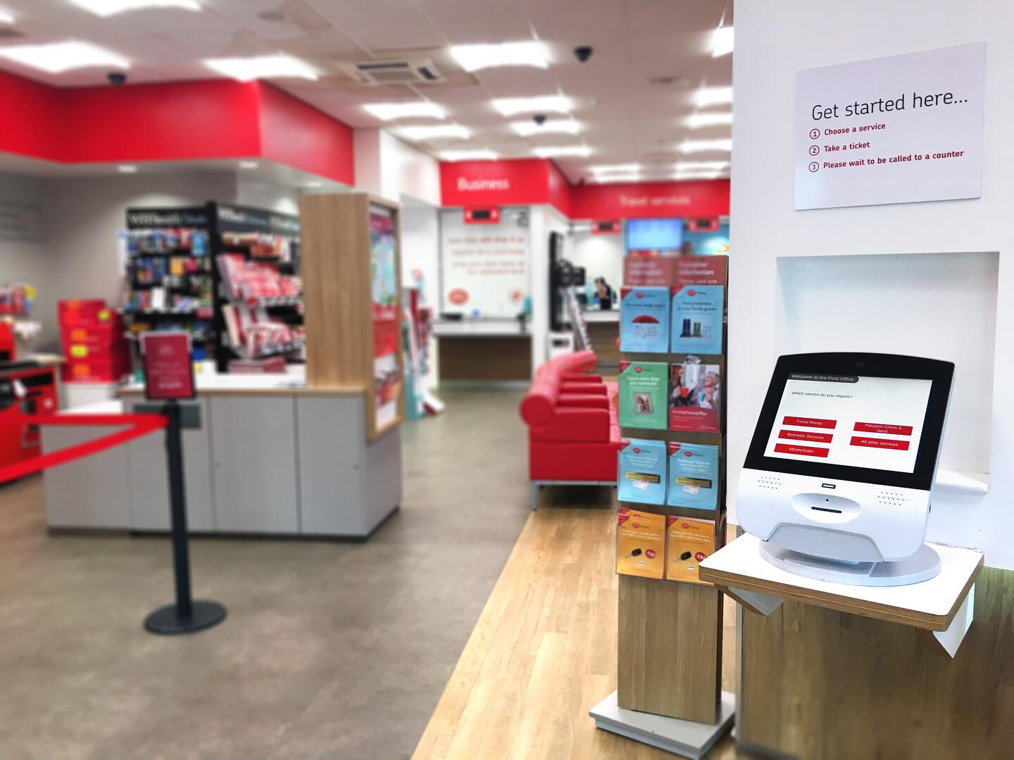 UK Qmatic Post Office Image 2
