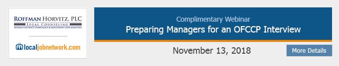 Complimentary OFCCP Webinar
