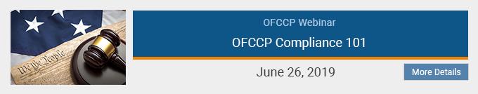 OFCCP Compliance 101