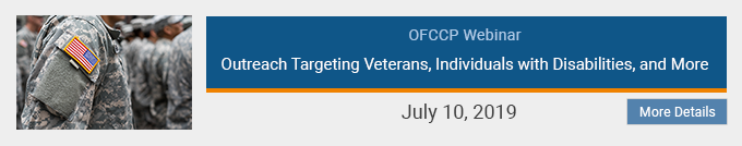 Outreach Targeting Veterans, Individuals with Disabilities, and More