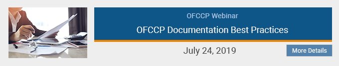 OFCCP Webinar: OFCCP Documentation Best Practices