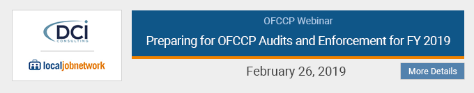 Preparing for OFCCP Audits and Enforcement for FY 2019