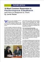 responding to performance feedback responses article