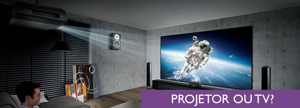 5 razões para escolher um projetor ao invés de uma TV