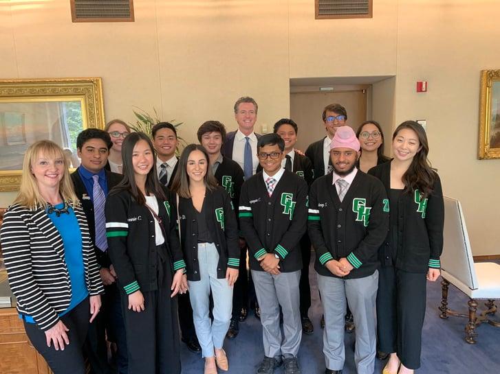 Granada Hills Academic Decathlon Team Honored by Gov. Newsom