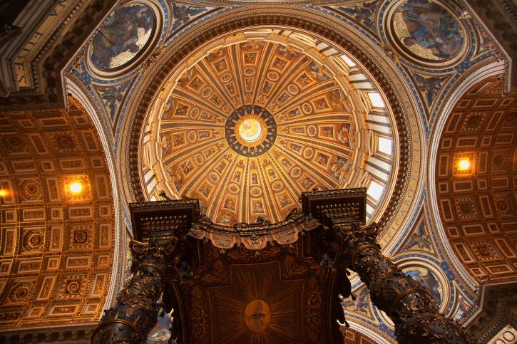 Saint_Peters_Basilica_Vatican_Inside_Michelangelos_Dome_Rome_Italy_Fine_Travel