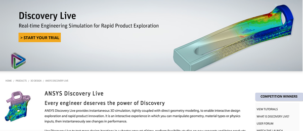 Ansys Discovery Live gives instant CAE results