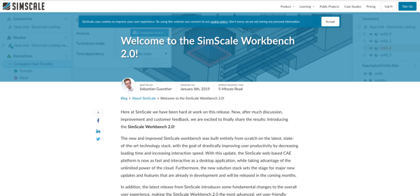 Simscale's new GUI sets the bar for cloud-based-CAE