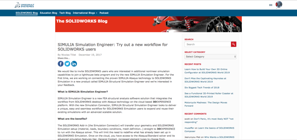Brand new advanced FEA capabilities for SOLIDWORKS's users