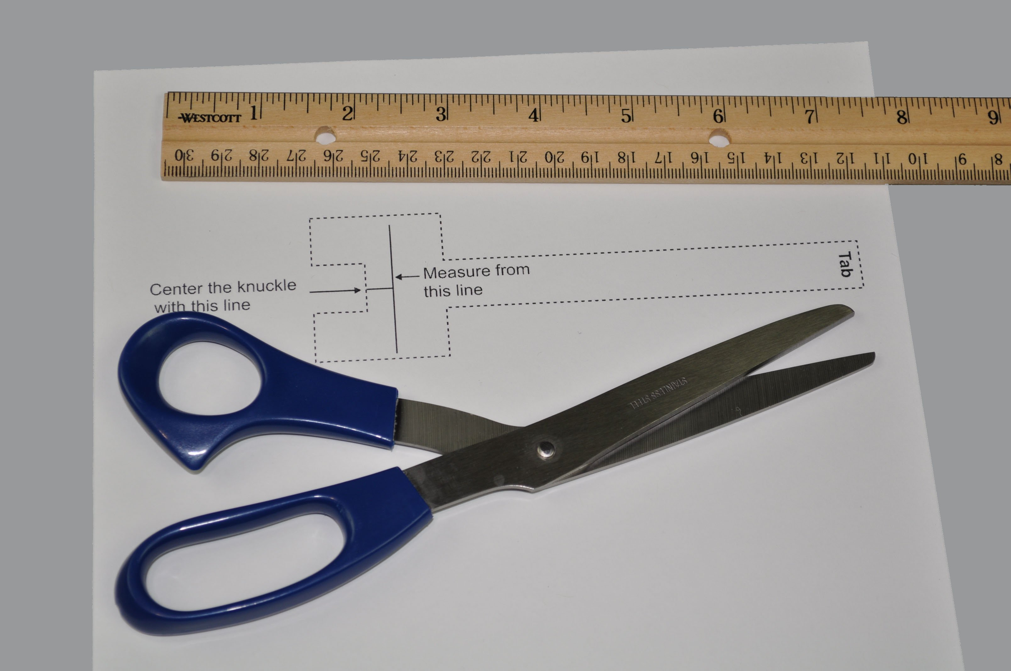For the Oval-8 sizing guide you will need the guide, scissors and a ruler with both inches and metric measurements.
