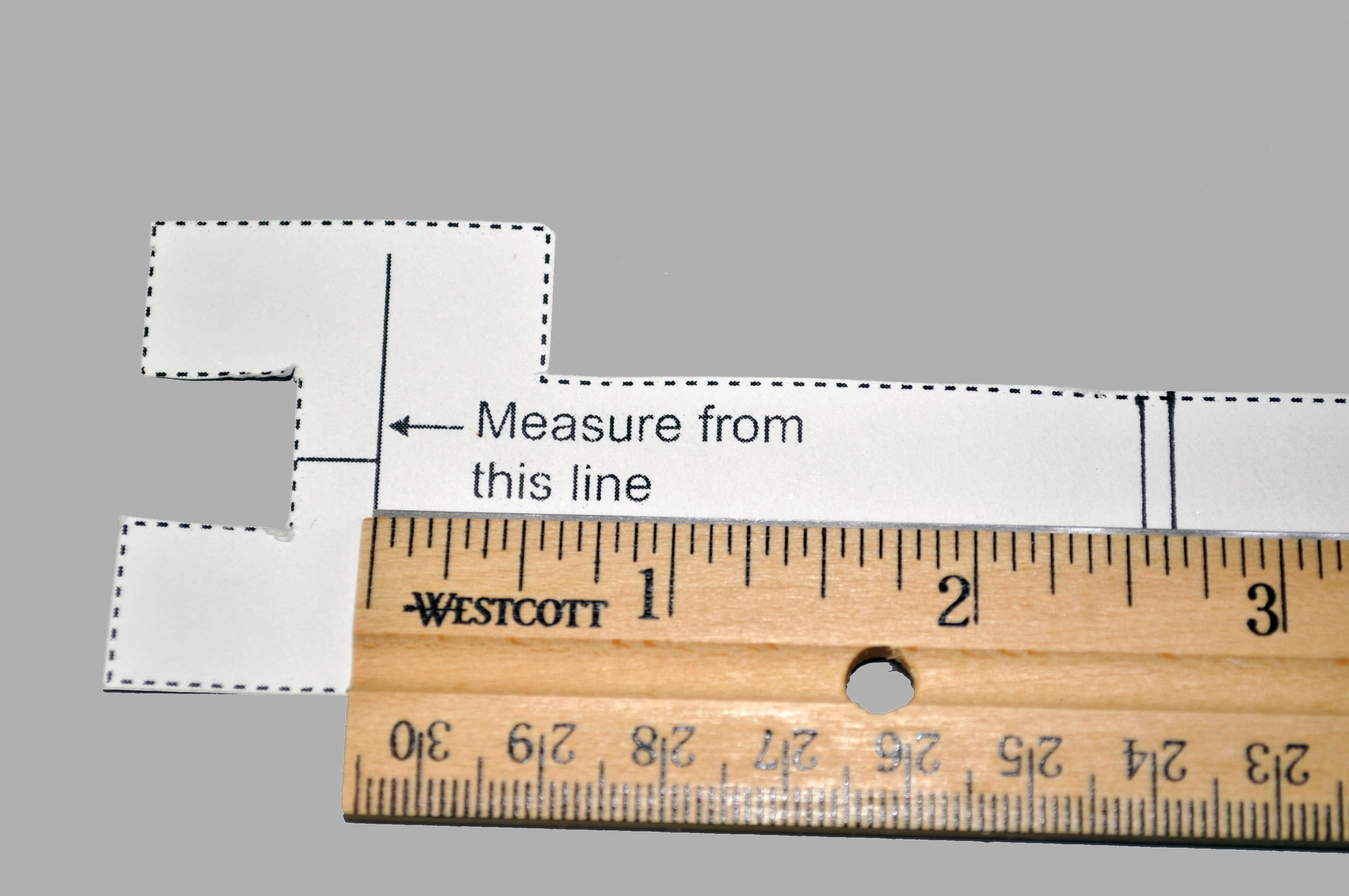 guide with ruler
