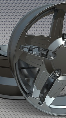 Wheel Rims Rendered with KeyCreator Artisan
