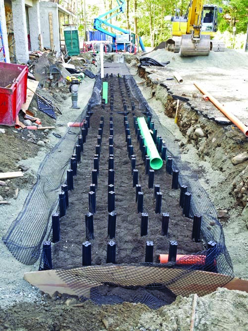 Drainage Gravel Cell : Managing stormwater