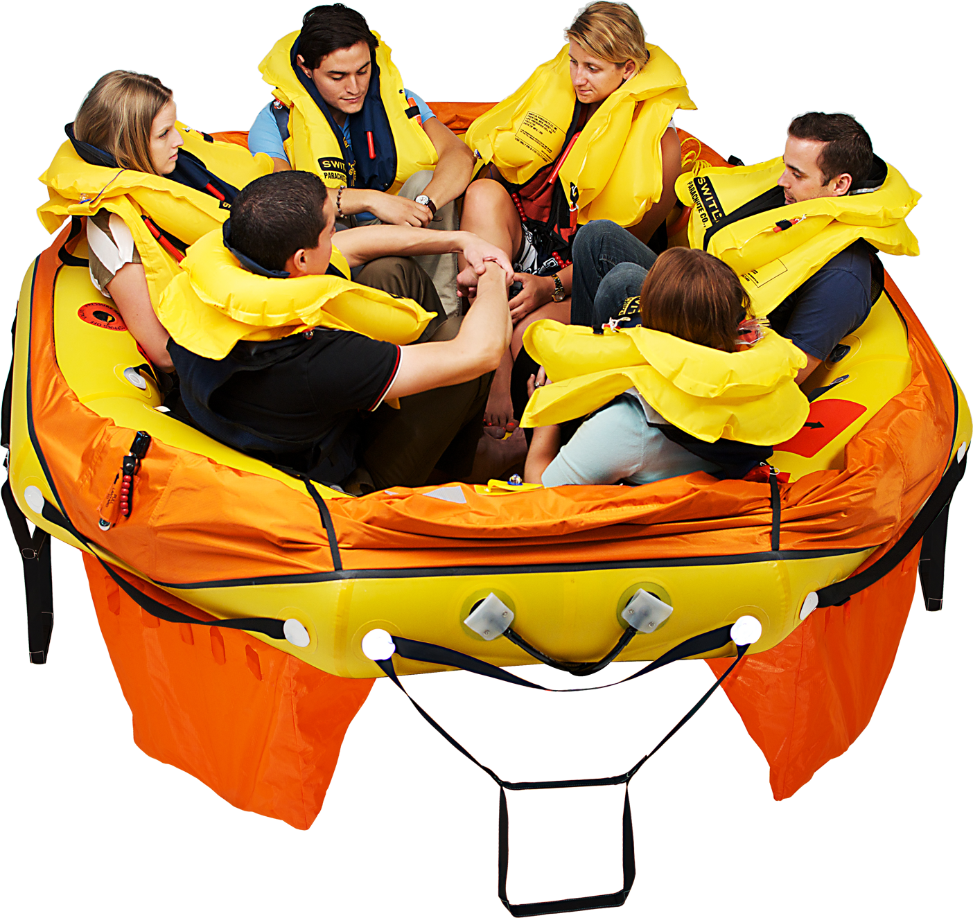 Capacity rating for aviation rafts