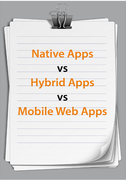 Native mobile app development, Hybrid mobile app development and Mobile web development
