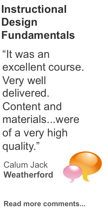 Instructional Design Training Testimonial