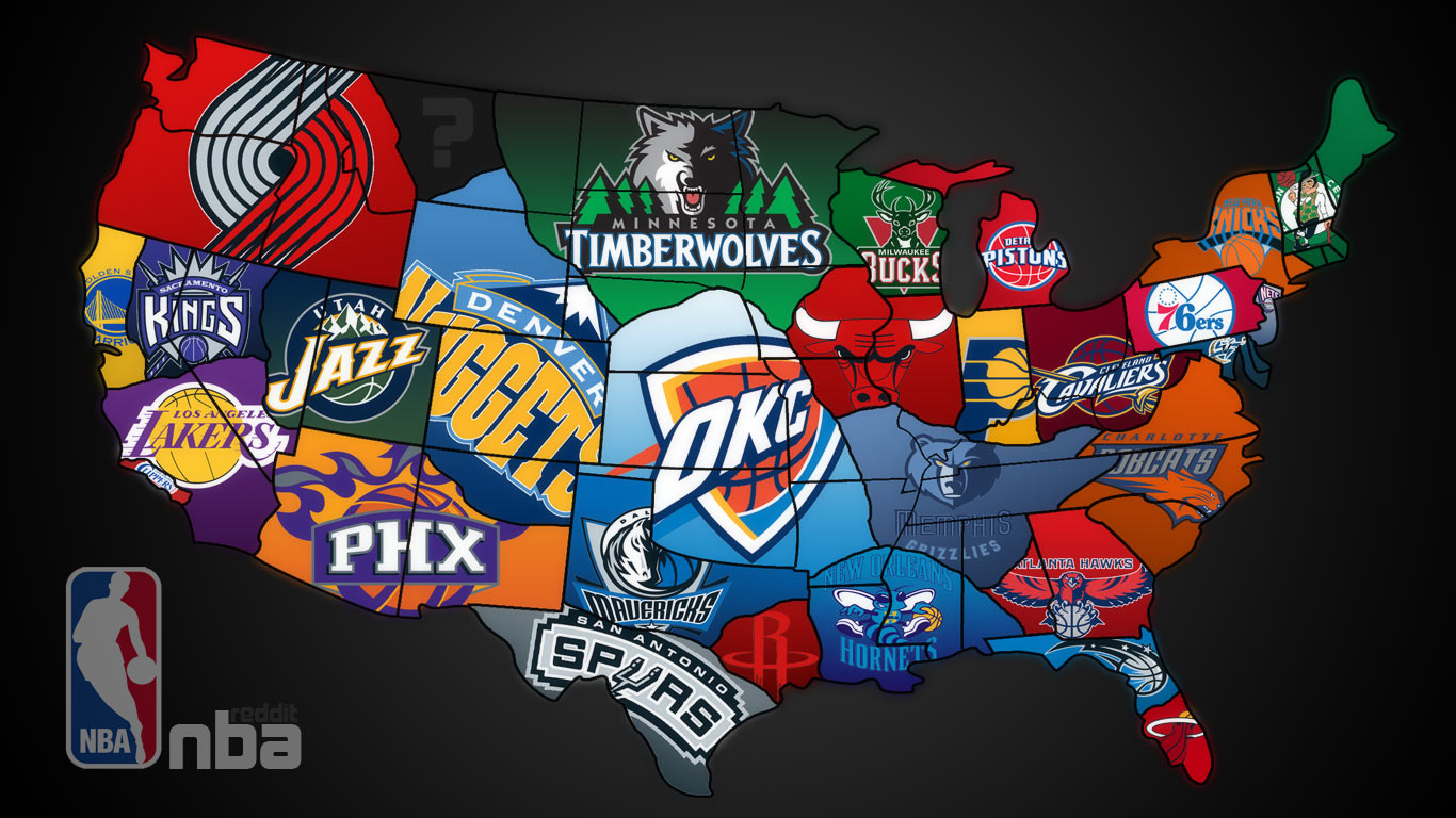 Advertising In Professional Sports NBA Spotlight - Map of us pro sports teams
