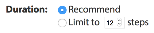 Duration: Recommend or Limited to 12 steps