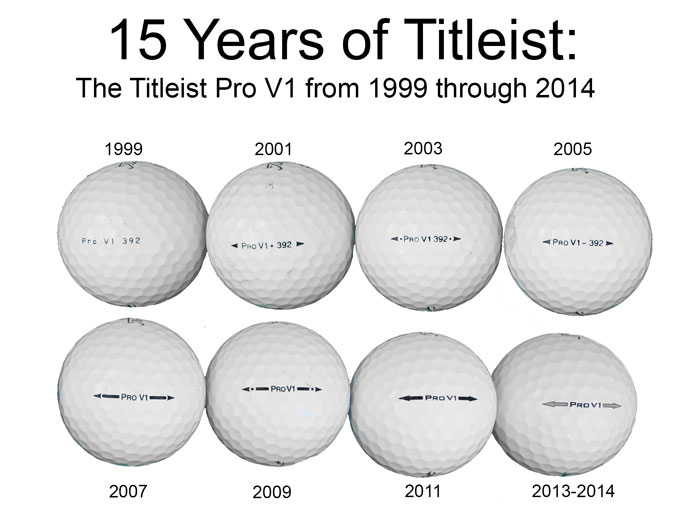 Identifying Arrows On Pro V1 S Showing Year Of