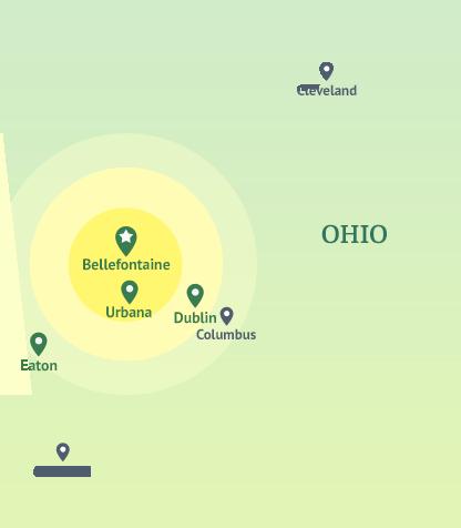 ohio insurance company map locations