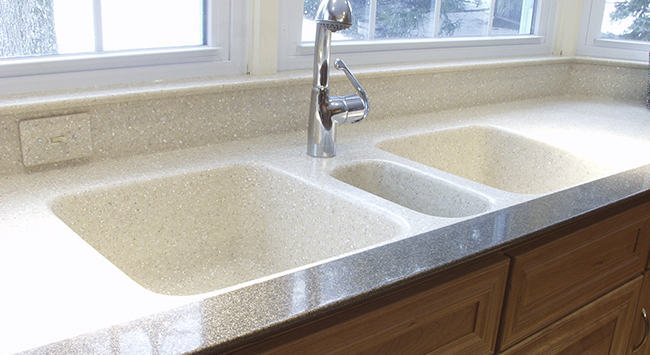 Meridian solid surface for Solid surface counters