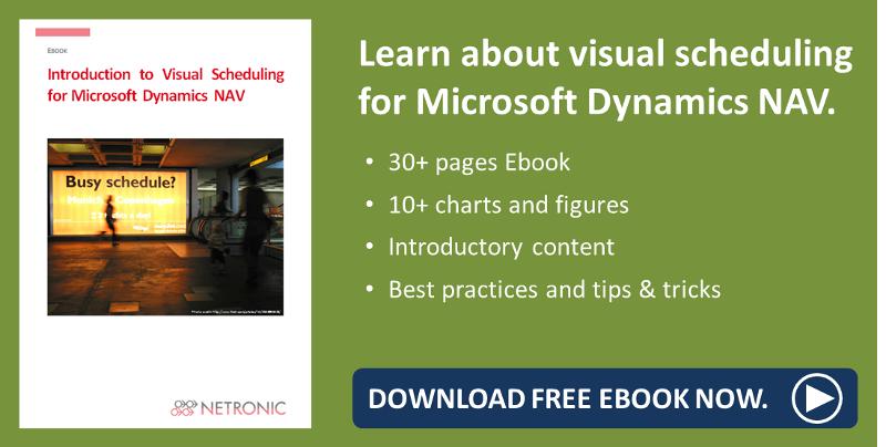Ebool visual scheduling for Microsoft Dynamics NAV