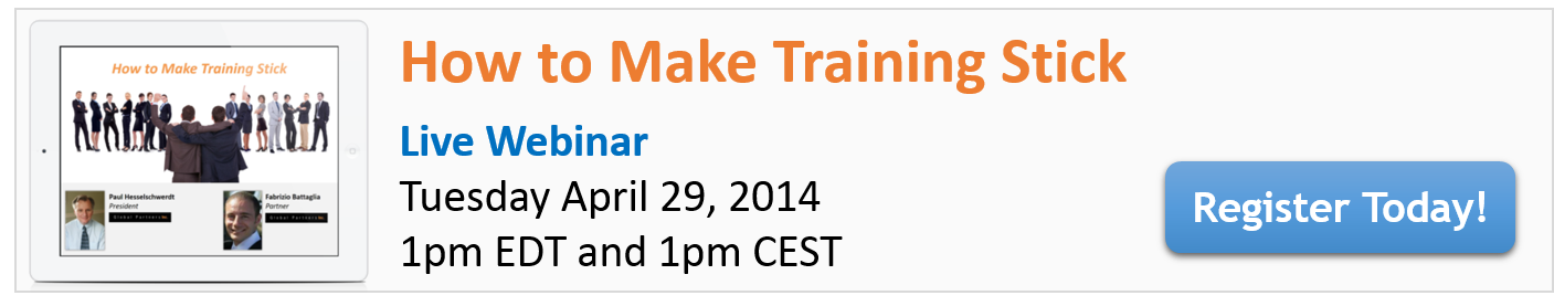 Make Training Stick Webinar