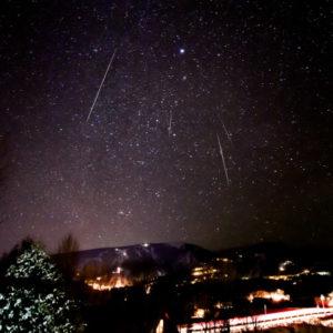 Colorado Geminid Meteor Shower Stars Sky