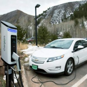 Electric Vehicle Charging Station at Walking Mountains in Avon Colorado
