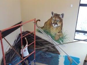 Mountain Lion Mural at Walking Mountains Science Center
